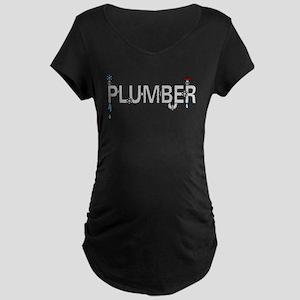 Plumber Pipes Maternity Dark T-Shirt