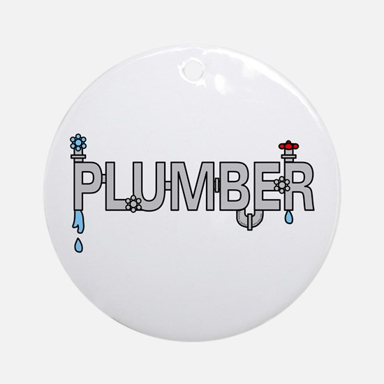 Plumber Pipes Ornament (Round)