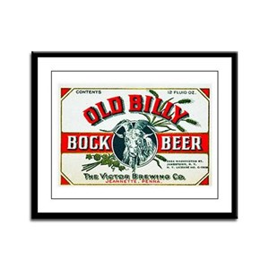 Pennsylvania Beer Label 7 Framed Panel Print