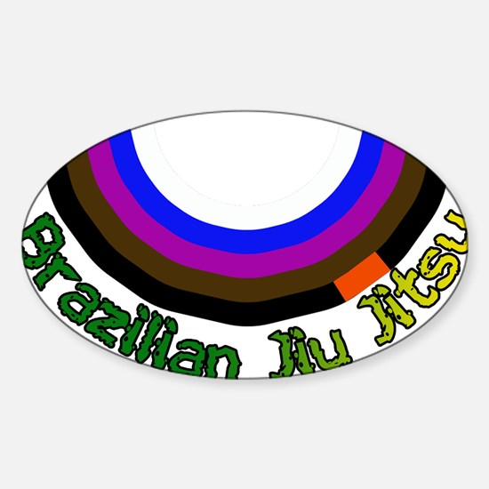 BJJ Loop - Colors of Progress Sticker (Oval)