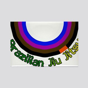 BJJ Loop - Colors of Progress Rectangle Magnet