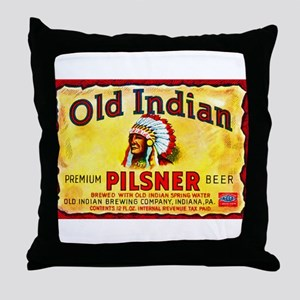 Pennsylvania Beer Label 8 Throw Pillow