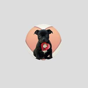 Love Staffie Puppy Mini Button