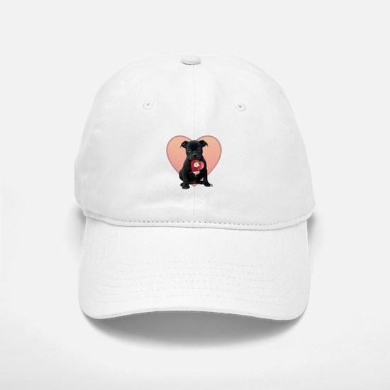 Love Staffie Puppy Baseball Baseball Cap