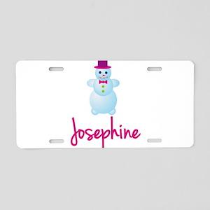 Josephine the snow woman Aluminum License Plate