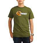 Climbing Fortune Cookie Organic Men's T-Shirt (dar