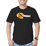 Climbing Fortune Cookie Men's Fitted T-Shirt (dark
