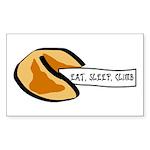 Climbing Fortune Cookie Sticker (Rectangle 10 pk)