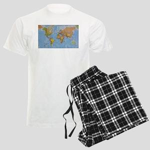 World Map Men's Light Pajamas