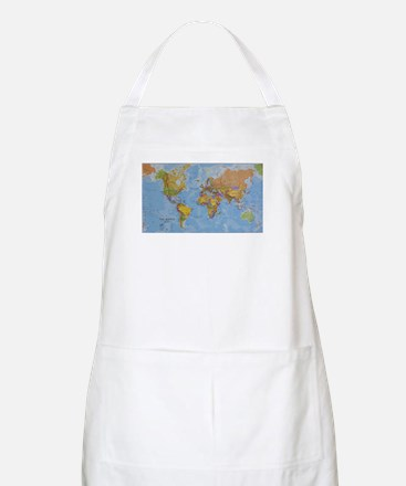 World Map Apron