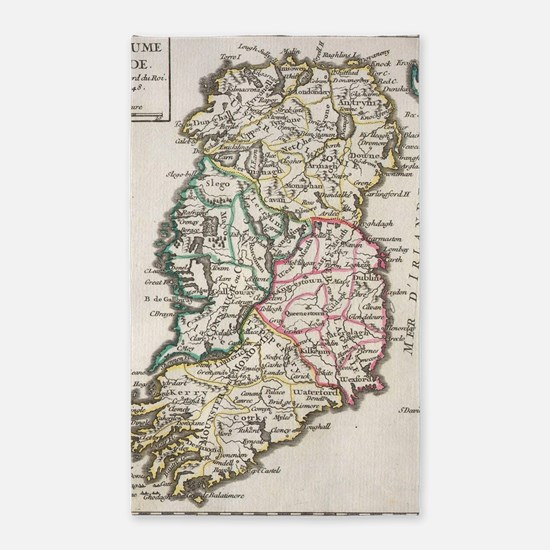 Vintage Map of Ireland (1748) Area Rug