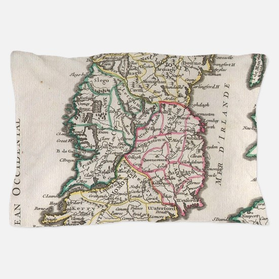 Vintage Map of Ireland (1748) Pillow Case