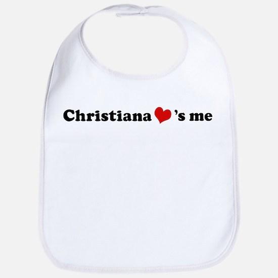 Christiana loves me Bib