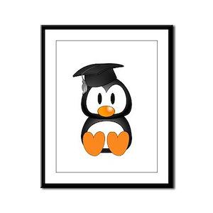 Senior Penguin Framed Panel Print