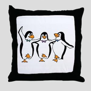 Penguins Dancing Throw Pillow