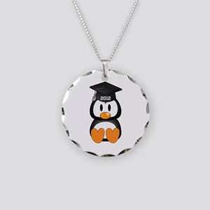 Custom Graduation Penguin Necklace Circle Charm