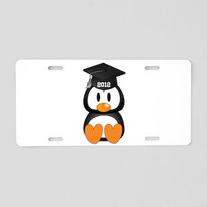 Custom Graduation Penguin Aluminum License Plate