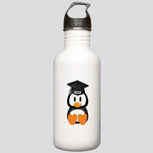 Custom Graduation Penguin Stainless Water Bottle 1