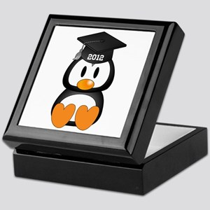 Custom Graduation Penguin Keepsake Box