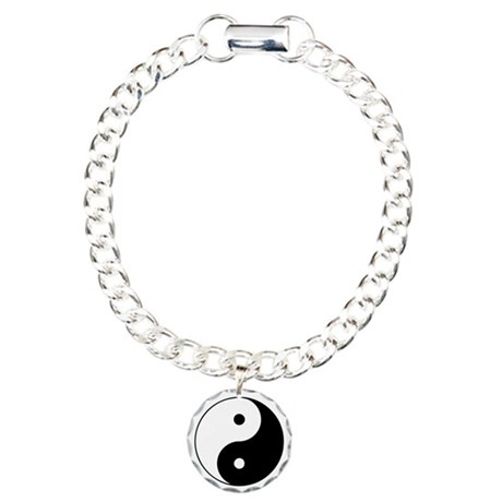 Yin Yang Symbol Charm Bracelet, One Charm