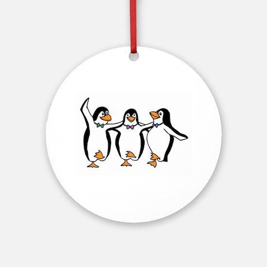 Penguins Dancing Ornament (Round)