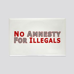 No Amnesty D23 Rectangle Magnet