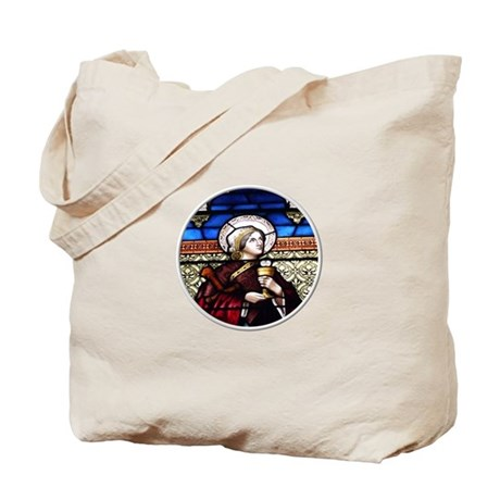 ST. BARBARA STAINED GLASS WINDOW Tote Bag