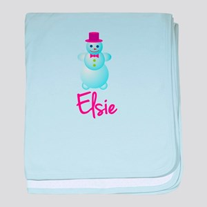 Elsie the snow woman baby blanket