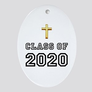 Class Of 2020 Cross Ornament (Oval)