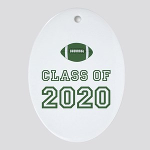 Class Of 2020 Football Ornament (Oval)