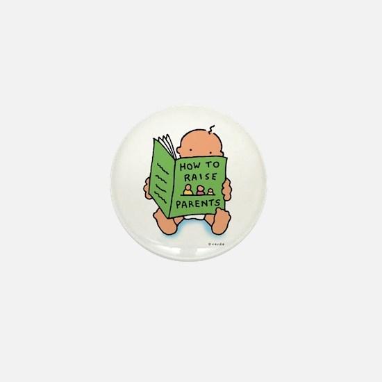 raising parents (light) Mini Button