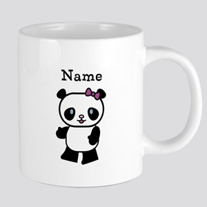 Personalize Panda Girl Mugs