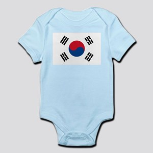Flag of South Korea Infant Creeper
