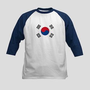 Flag of South Korea Kids Baseball Jersey