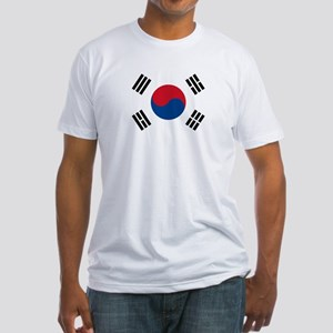 Flag of South Korea Fitted T-Shirt