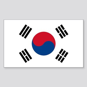 Flag of South Korea Rectangle Sticker