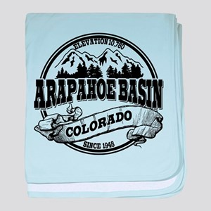 Arapahoe Basin Old Circle baby blanket