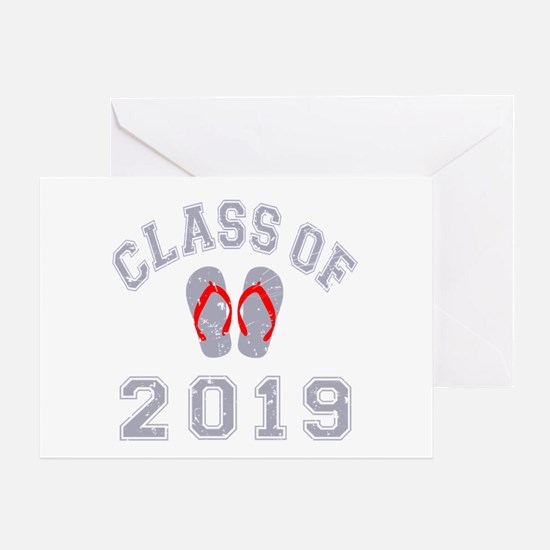 Class Of 2019 Flip Flop Greeting Card