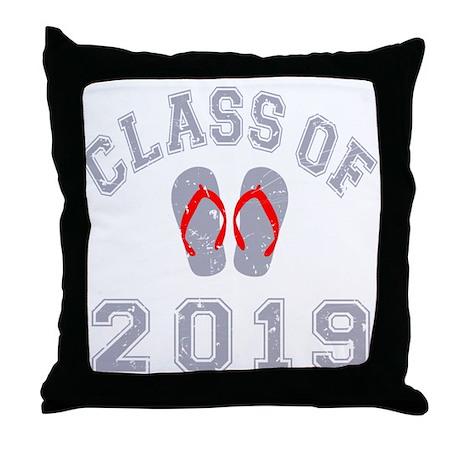 Class Of 2019 Flip Flop Throw Pillow