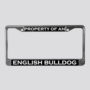 Property of English Bulldog License Plate Frame