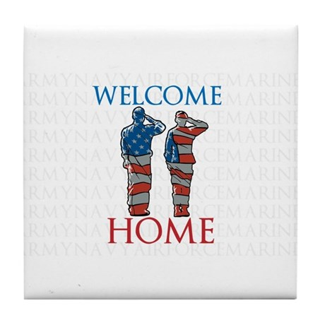 WELCOME HOME Tile Coaster