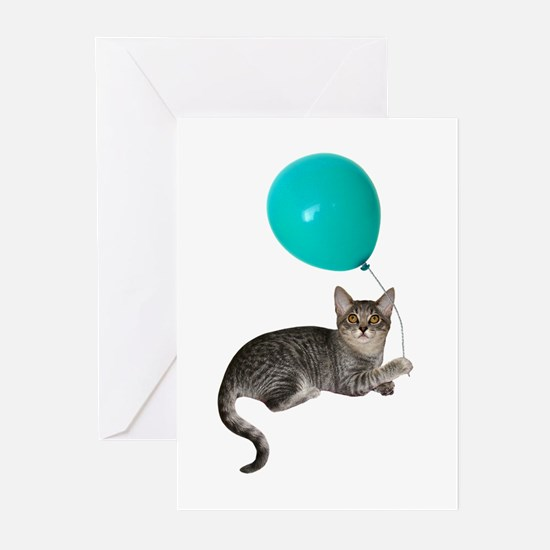 Cat with Ballon Greeting Cards (Pk of 10)