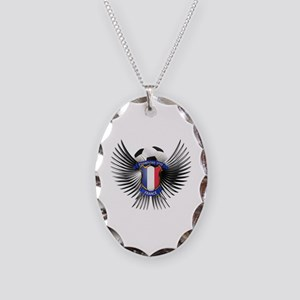 France 2012 Soccer Champions Necklace Oval Charm