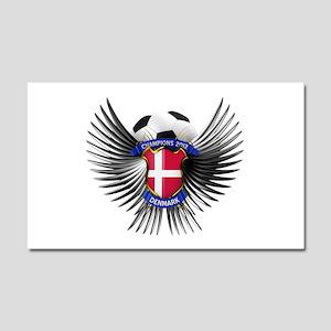 Denmark 2012 Soccer Champions Car Magnet 20 x 12
