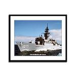 USS BADGER Framed Panel Print
