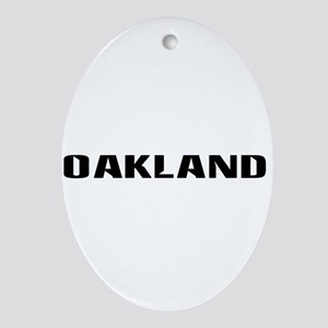 Oakland (www.repoakland.com) Ornament (Oval)