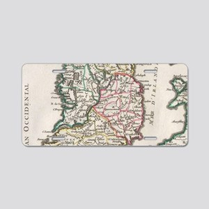 Vintage Map of Ireland (174 Aluminum License Plate