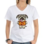 PaGuuu1 Women's V-Neck T-Shirt