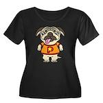 PaGuuu1 Women's Plus Size Scoop Neck Dark T-Shirt