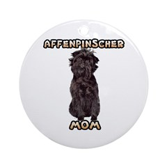 Affenpinscher Mom Ornament (Round)